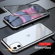 Capa Crystal Magnética iPhone 12  Prata - Oem