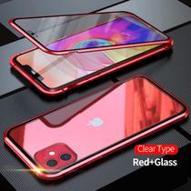 Capa Crystal Magnética iPhone 12  Vermelho - Oem