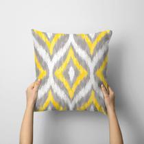 Capa de Almofada Avulsa Decorativa Abstrato Amarelo - Love Decor