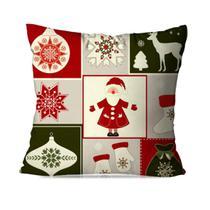 Capa de Almofada Avulsa Decorativa Classic Natal - Love Decor