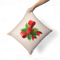 Capa de Almofada Avulsa Decorativa Laço Natalino - Love Decor
