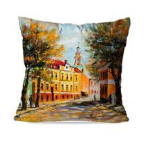Capa de Almofada Avulsa Decorativa Pintura Cidade - Love Decor