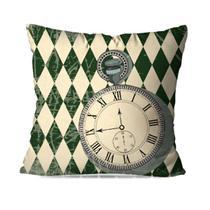Capa de Almofada Avulsa Decorativa Relógio Old - Love Decor