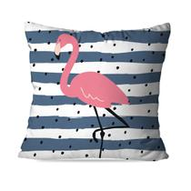 Capa de Almofada Avulsa Decorativa Stripes Flamingo - Love decor