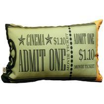 Capa de Almofada Cinema Ticket Admit One 25x35cm Cosi Dimora -