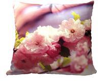 Capa de Almofada Contemporânea Eco Vintage - Cerejeira Rosa - Nunes Decorarte