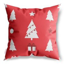 Capa de Almofada Decorativa Árvore de Natal e Presentes - Sweetsoft