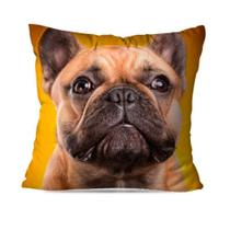 Capa de Almofada Decorativa Bulldog Amarelo - Love Decor
