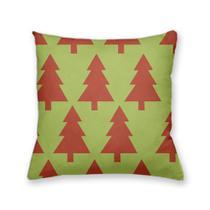 Capa de Almofada Decorativa Own Verde com Árvore de Natal Vermelha - Prego e martelo