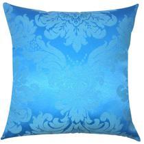 Capa de Almofada Jacquard Azul Turquesa 43x43cm - Sua Casa Decor