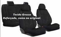 Capa de Banco Carro Tecido Grosso Reforçado Preto Chevrolet Celta Classic Onix e Universal - Carrhel