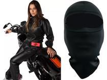 Capa de Chuva Feminina Alba Europa PVC Motociclista + Balaclava -