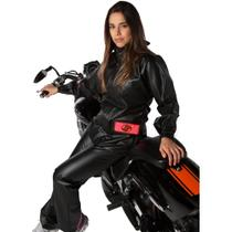Capa de Chuva Feminina Alba Europa PVC Motociclista -