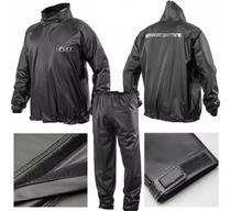 Capa de chuva moto motoboy impermeável pvc com gola delta flex -