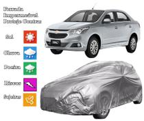 Capa de cobrir carro Cobalt forrada e impermeável proteção sol e chuva - Loja Bezzter