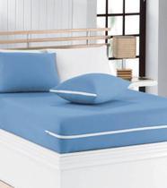 capa de colchão de casal malha 100% algodão com ziper para colchão 1,38x1,88x0,25 - Atual