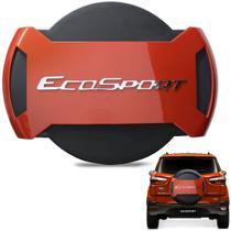 Capa De Estepe Ecosport 2013 a 2019 Antifurto Laranja Savana - Marçon