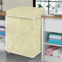 Capa de máquina de lavar bege perolizada - G - Vida Pratika
