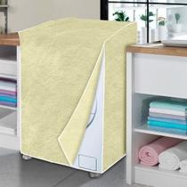 Capa de máquina de lavar bege perolizada - GG - Vida Pratika