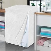 Capa de máquina de lavar branca perolizada - GG - Vida Pratika