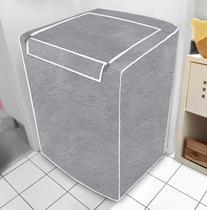 Capa de máquina de lavar - Cinza Com Abertura Superior - M - Vida Pratika