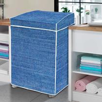 Capa de máquina de lavar estampa jeans - GG - Vida Pratika