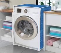Capa de máquina de lavar - Jeans Com Abertura Frontal - Vida Pratika