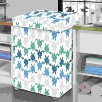 Capa de máquina de lavar PVC - Tartaruga - G - Vida Pratika