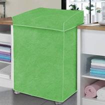 Capa De Máquina De Lavar Roupas 7 8 9 10kg P Verde Flanelada - Homevp
