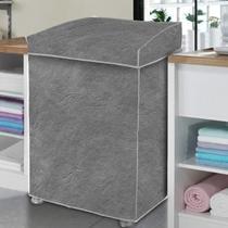 Capa De Máquina De Lavar Roupas Samsung Eco Lg 4kg 8,5kg Gg Cinza - Homevp
