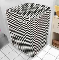 Capa de máquina de lavar - ZigZag Com Abertura Superior - Vida Pratika