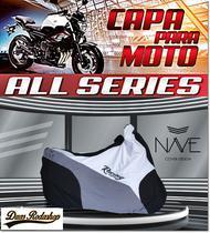 Capa de moto Nave  All Séries cor Branco -