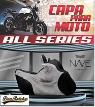 Capa de moto Nave All Séries cor chumbo -