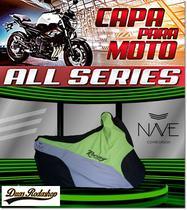Capa de moto Nave  All Séries cor verde -