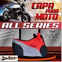 Capa de moto Nave  All Séries cor vermelho -