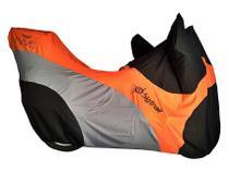Capa de moto Nave Big Trail cor laranja -