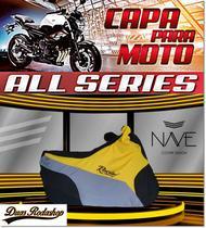 Capa de moto Nave Speed cor amarelo -