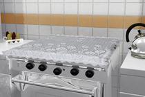 Capa de renda para tampa de fogão 4 bocas - Não Informada