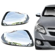 Capa de Retrovisor Chevrolet Agile 2009 a 2014 Montana 2010 a 2018 Cromada Encaixe Sob Medida - Blawer