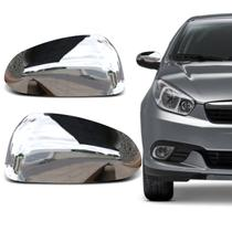 Capa de Retrovisor Fiat Grand Siena 2012 a 2018 Cromada Encaixe Sob Medida - Blawer