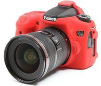Capa de Silicone para Canon 70D - Vermelha - Discovered
