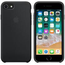 Capa de silicone para iPhone 8 / 7 - Preta - Rei Das Capinhas