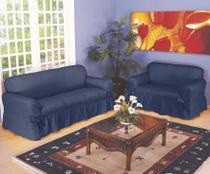 Capa De Sofá 2 E 3 Lugares Tecido Gorgurão Maquinetado - Campari Têxtil