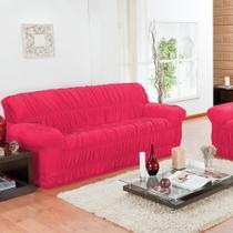 Capa de Sofá 3 e 2 Lugares Elásticada Pink - Guilherme Confecções