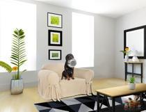 Capa De Sofá Mistero 1 Lugar Brim Peletizado Poltrona Sala Ambiente Decoração Confortável Resistente Macio - Casabrasile