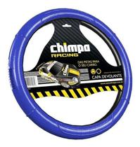 Capa de Volante 38cm Azul Racing Chimpa -