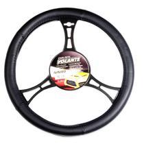 Capa De Volante Carro Automóvel 36x38cm Preta Nva545p Naveg -