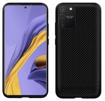 Capa Em Gel Fibra De Carbono Para Samsung Galaxy S10 Lite - Preta - H'Maston