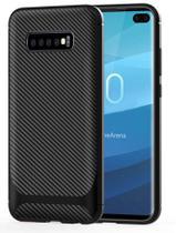 Capa Em Gel Fibra De Carbono Para Samsung Galaxy S10 Plus - Preta - H'Maston
