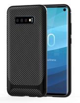 Capa Em Gel Fibra De Carbono Para Samsung Galaxy S10 - Preta - H'Maston